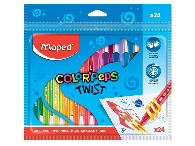 Восковые мелки Maped Colorpeps Twist 24 цвета 860624
