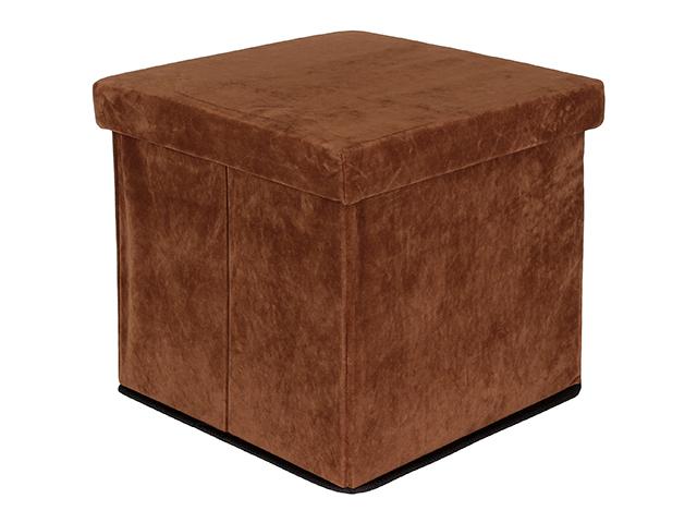 Пуф складной с ящиком для хранения Elan Gallery Brown 840027