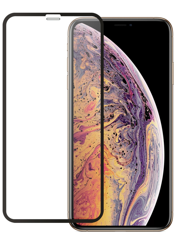Защитное стекло Pero для APPLE iPhone Xs Max/11 Pro Max Full Screen Cover Glue Black PGFG-IXSM