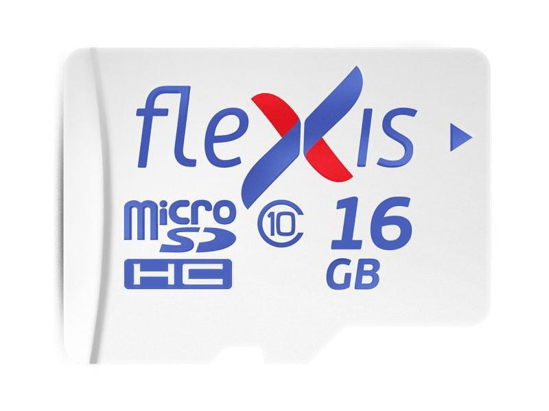 Карта памяти 16Gb - Flexis Micro Secure Digital HC Class 10 UHS-I U1 FMSD016GU1