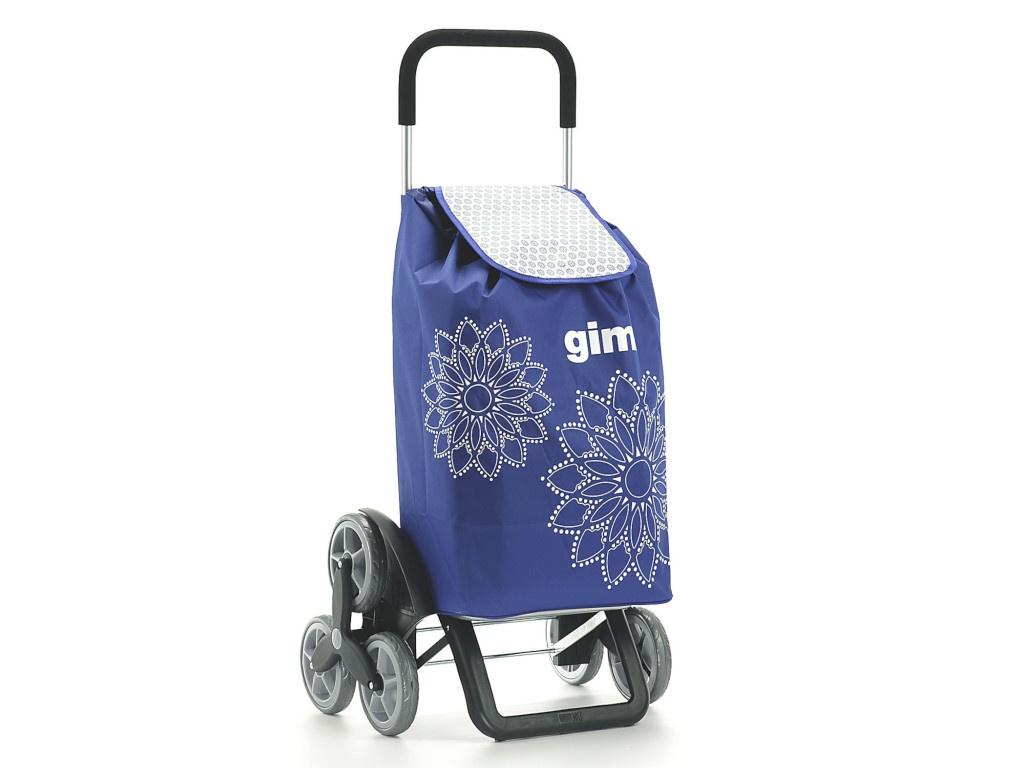 Сумка-тележка Gimi Tris Floral Blue 154312/154620