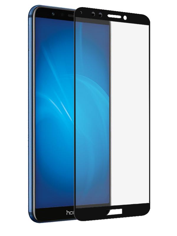 Защитное стекло Krutoff для Honor 7A Pro / 7C / Huawei Y6 Prime 2018 Full Glue Black 03081 фото