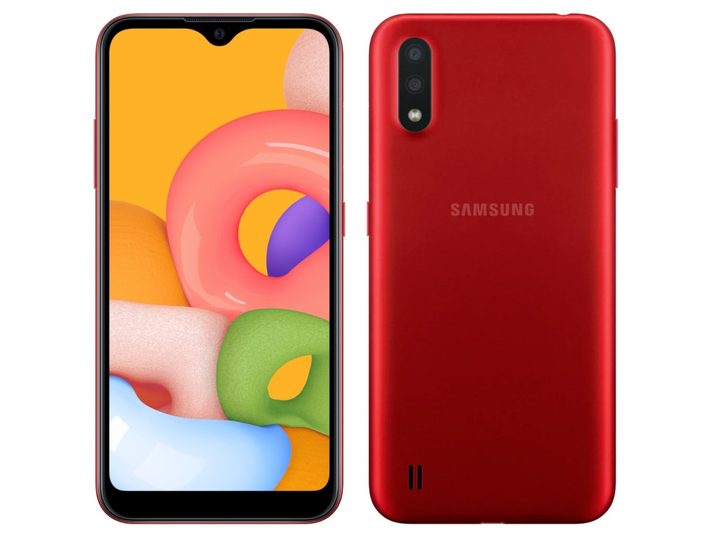 Сотовый телефон Samsung Galaxy A01 2Gb/16Gb Red сотовый телефон samsung sm a115f galaxy a11 2gb 32gb red