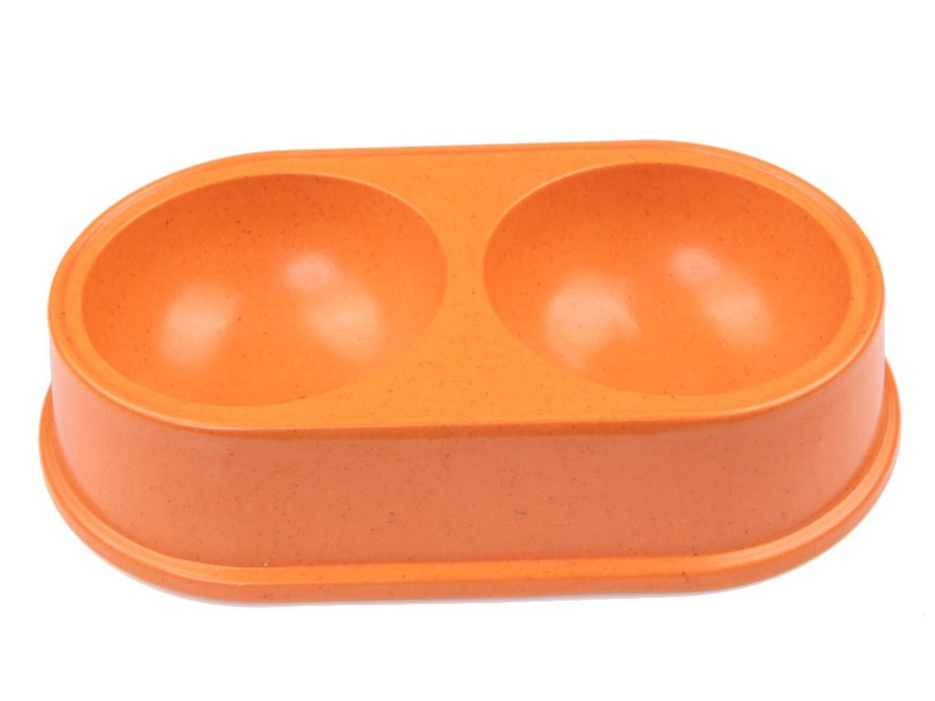 Миска двойная Bobo 3046-Z-2 Orange