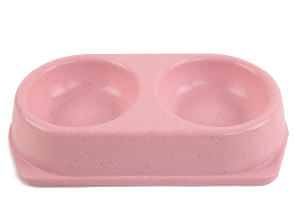 Миска двойная Bobo 3039-Z-1 Pink