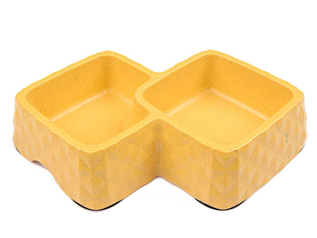 Миска двойная Bobo BO-3165-3 Yellow