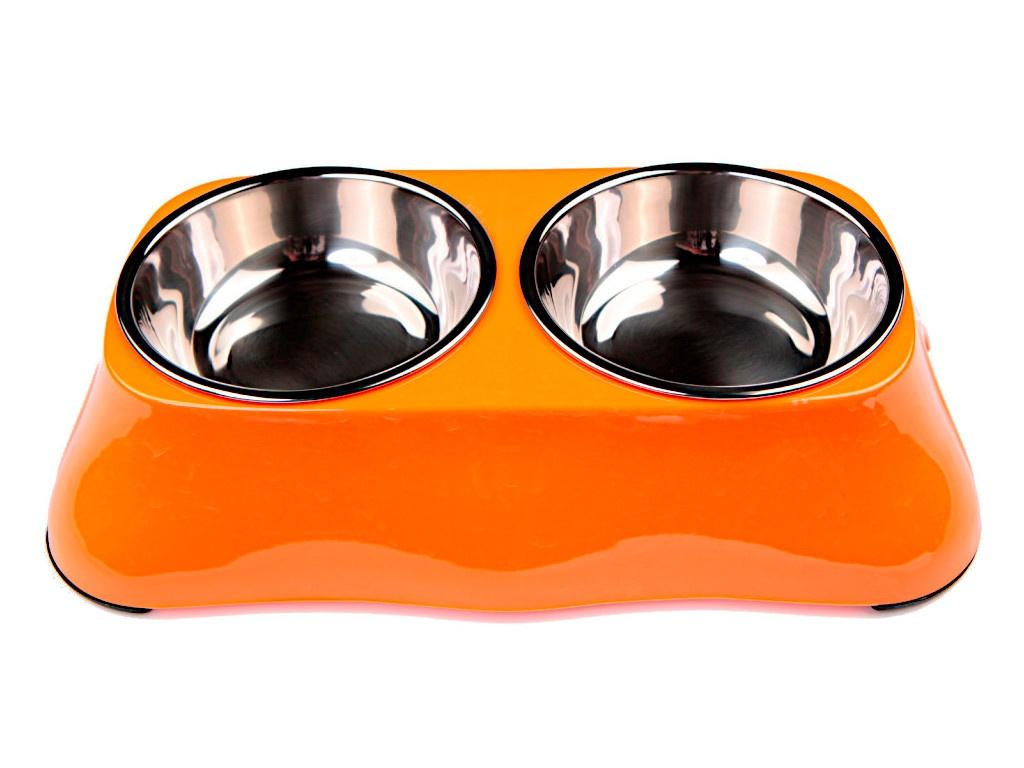 Миска двойная Bobo BO-3137A5-2 Orange
