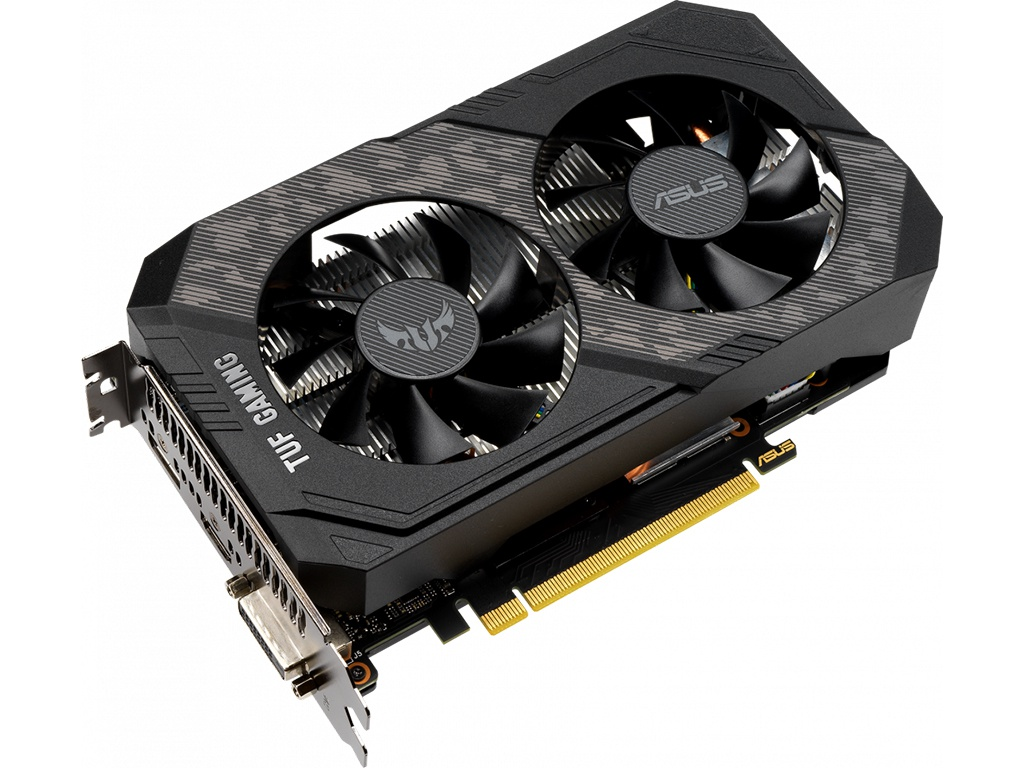 Видеокарта ASUS GeForce GTX 1650 TUF Gaming 1530Mhz PCI-E 3.0 4096Mb 12002Mhz 128 bit DVI DP HDMI TUF-GTX1650S-O4G-GAMING