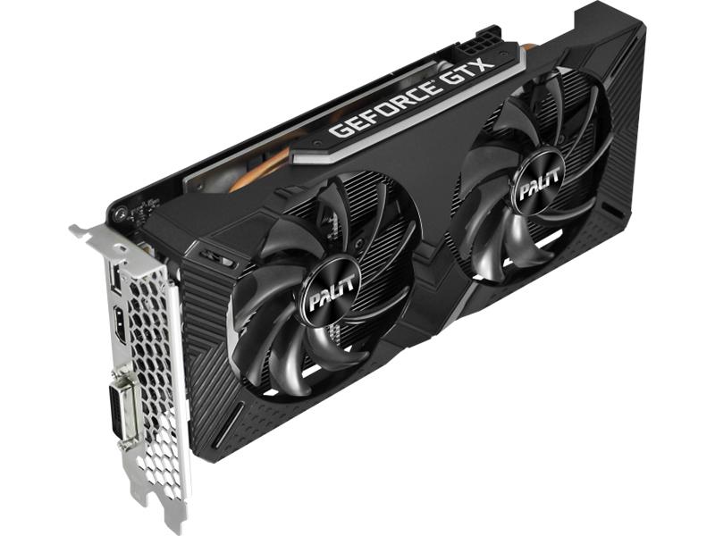 Видеокарта Palit GeForce GTX 1660 Dual 1530Mhz PCI-E 3.0 6144Mb 8000Mhz 192 bit DVI HDMI DP NE51660018J9-1161A