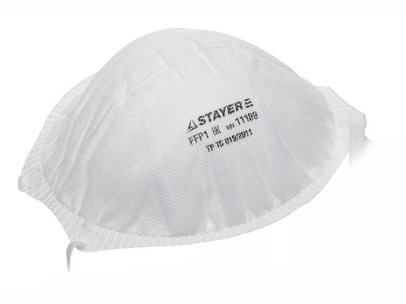 Защитная маска Stayer Profi 11109 класс защиты FFP1 (до 4 ПДК)