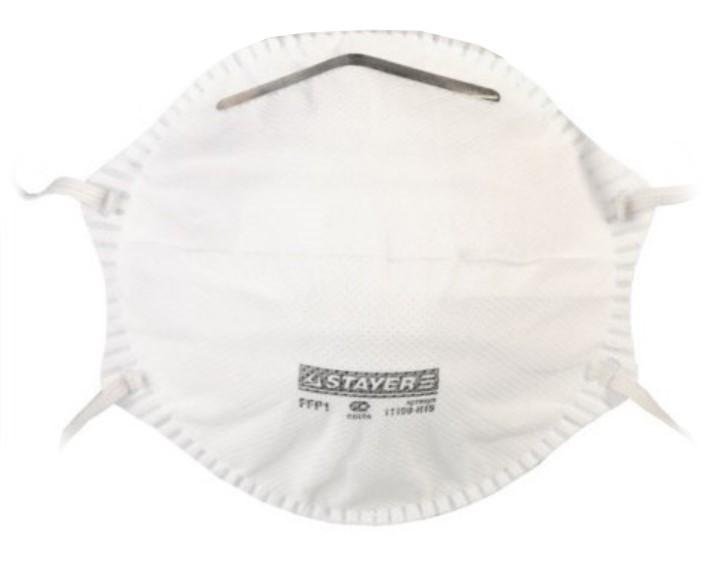 Защитная маска Stayer Profi 11109-H15 класс защиты FFP1 (до 4 ПДК)