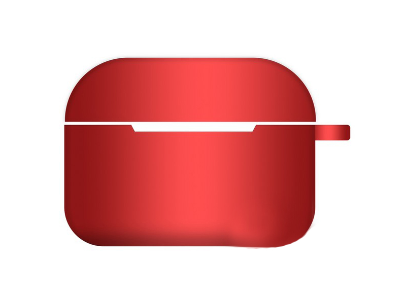 Чехол Krutoff для AirPods Pro Hang Silicone Case с карабином Red 10966