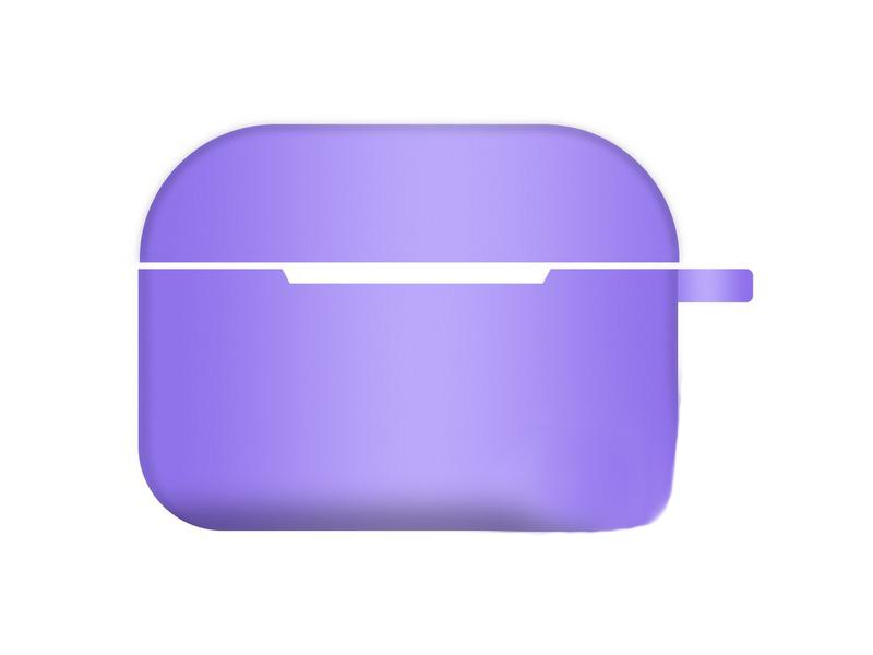 Чехол Krutoff для AirPods Pro Hang Silicone Case с карабином Purple 10962