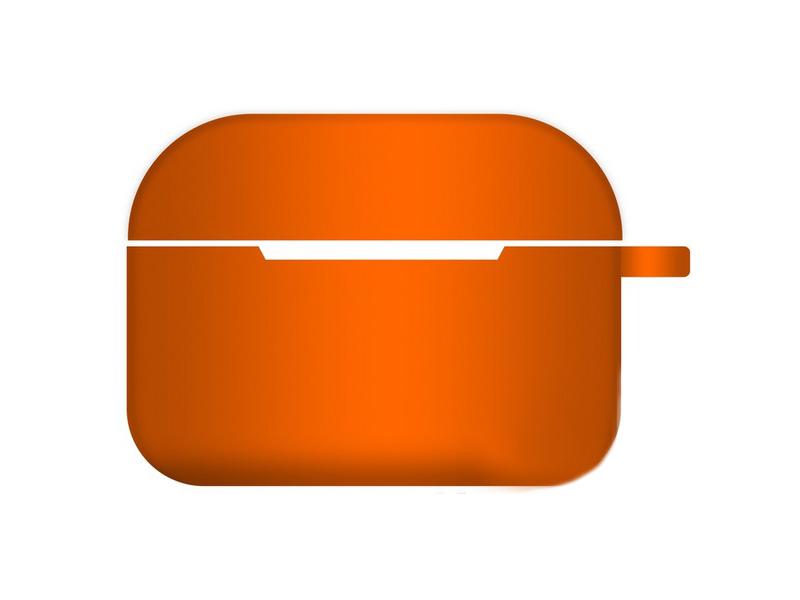 Чехол Krutoff для AirPods Pro Hang Silicone Case с карабином Peach 10972