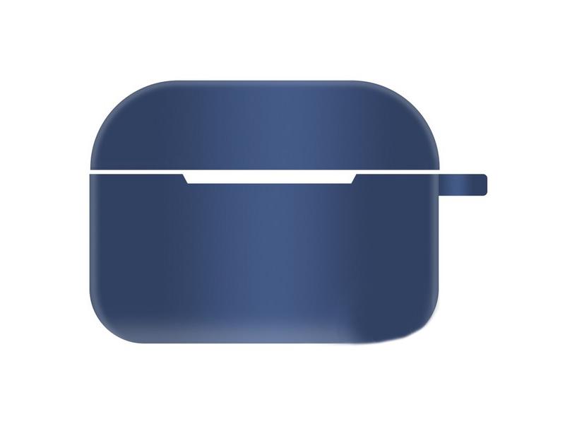 Чехол Krutoff для AirPods Pro Hang Silicone Case с карабином Blue 10963