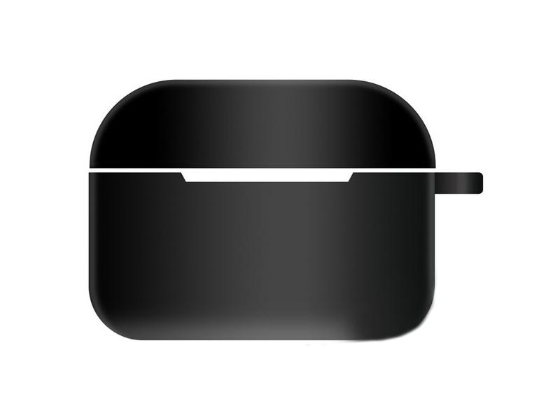 Чехол Krutoff для AirPods Pro Hang Silicone Case с карабином Black 10976