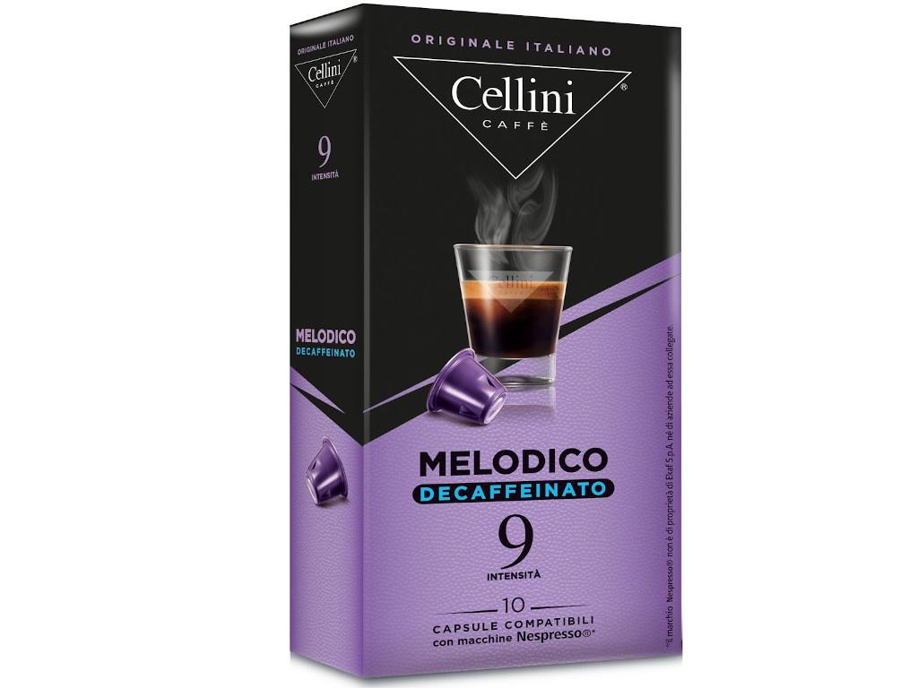 цена на Капсулы Cellini Nespresso Melodico Decaffeinato 10шт