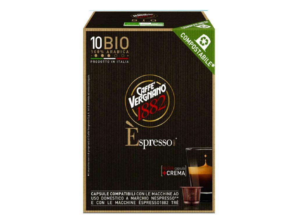 Капсулы Vergnano Espresso Bio Arabica 100% 10шт стандарта Nespresso