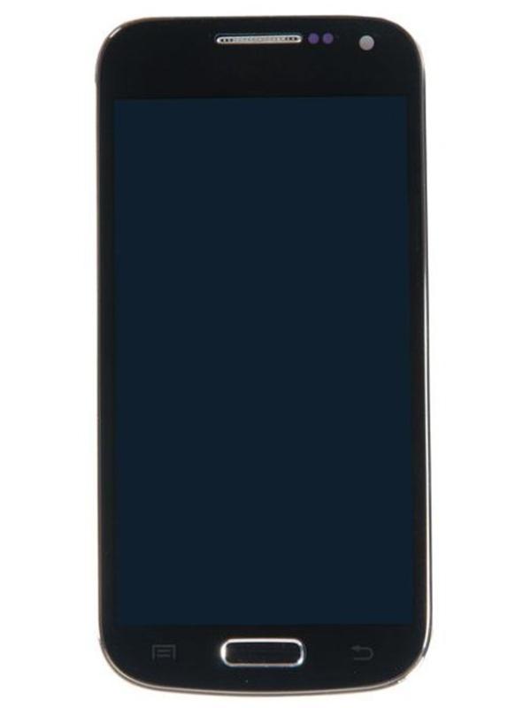 Дисплей RocknParts для Samsung Galaxy S4 mini GT-I9190/GT-I9192/GT-I9195 AMOLED в сборе с тачскрином и передней панелью Black 363691