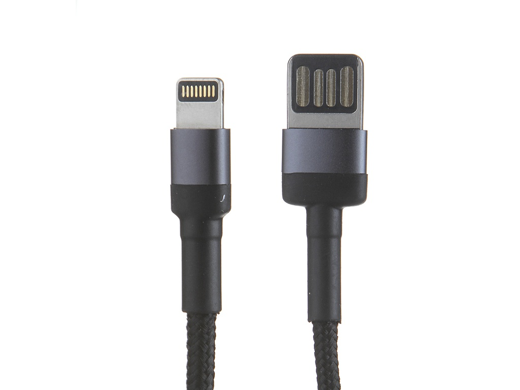 Аксессуар Baseus Cafule Cable USB - Lightning 2.4A 1m Grey-Black CALKLF-GG1