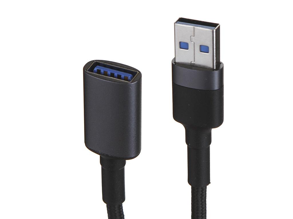 Аксессуар Baseus Cafule Cable USB 3.0 Male - Female 2A 1m Dark Grey CADKLF-B0G