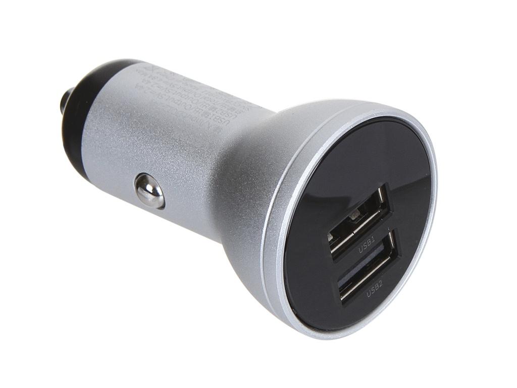 лучшая цена Зарядное устройство Baseus Digital Display Dual USB 4.8A Car Charger 24W Silver CCBX-0S