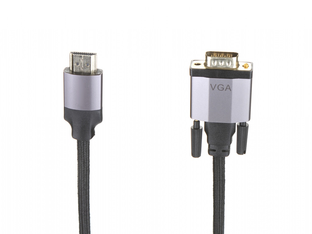 Аксессуар Baseus Enjoyment Series HDMI Male - VGA 1m Dark Grey CAKSX-J0G