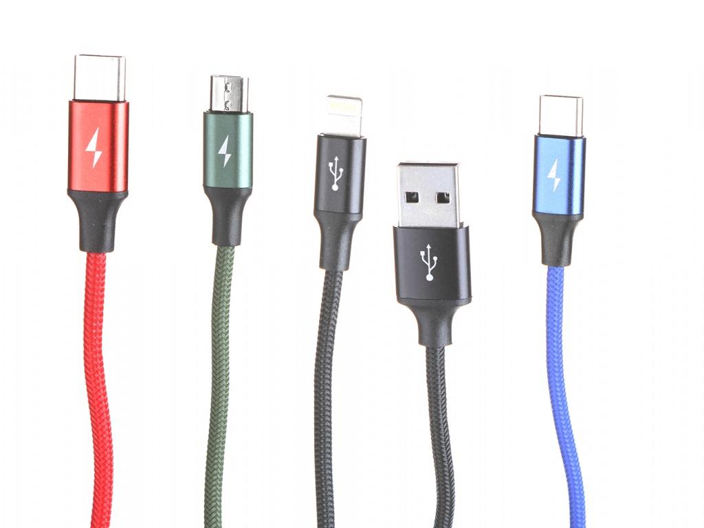 Фото - Аксессуар Baseus Fast 4-in-1 USB - Lightning + 2xType-C + MicroUSB 3.5A 1.2m Black CA1T4-B01 аксессуар fast duster 650ml
