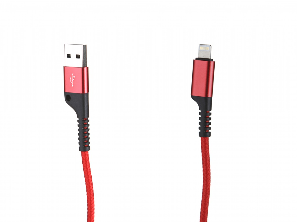 Аксессуар Baseus Fish Eye Spring USB - Lightning Red CALSR-09