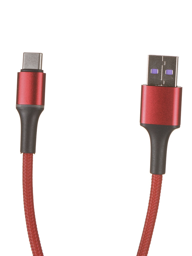 Фото - Аксессуар Baseus Halo HW Flash USB - Type-C 40W 2m Red CATGH-H09 аксессуар baseus purple ring hw quick charging usb type c 40w 1m black catzs 01