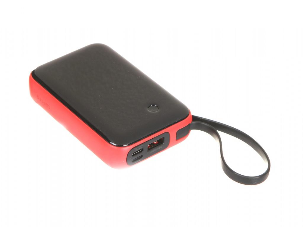 Внешний аккумулятор Baseus Mini S Digital Display 3A Power Bank 10000mAh Red PPXF-B09