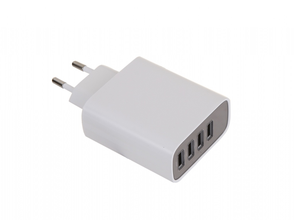 Зарядное устройство Baseus Mirror Lake Digital Display 4xUSB Travel Charger 30W White CCJMHB-B02