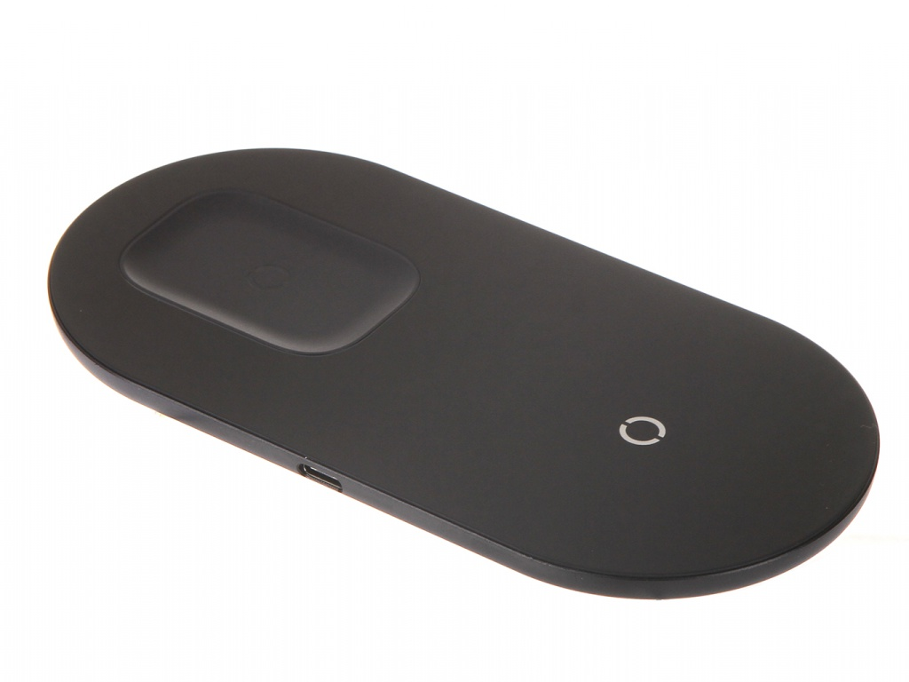 Зарядное устройство Baseus Simple 2in1 Wireless Charger Pro Edition For Phones + Pod Black WXJK-C01