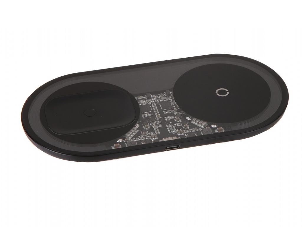 Зарядное устройство Baseus Simple 2in1 Wireless Charger Pro Edition For Phones + Pod Transparent WXJK-CA02