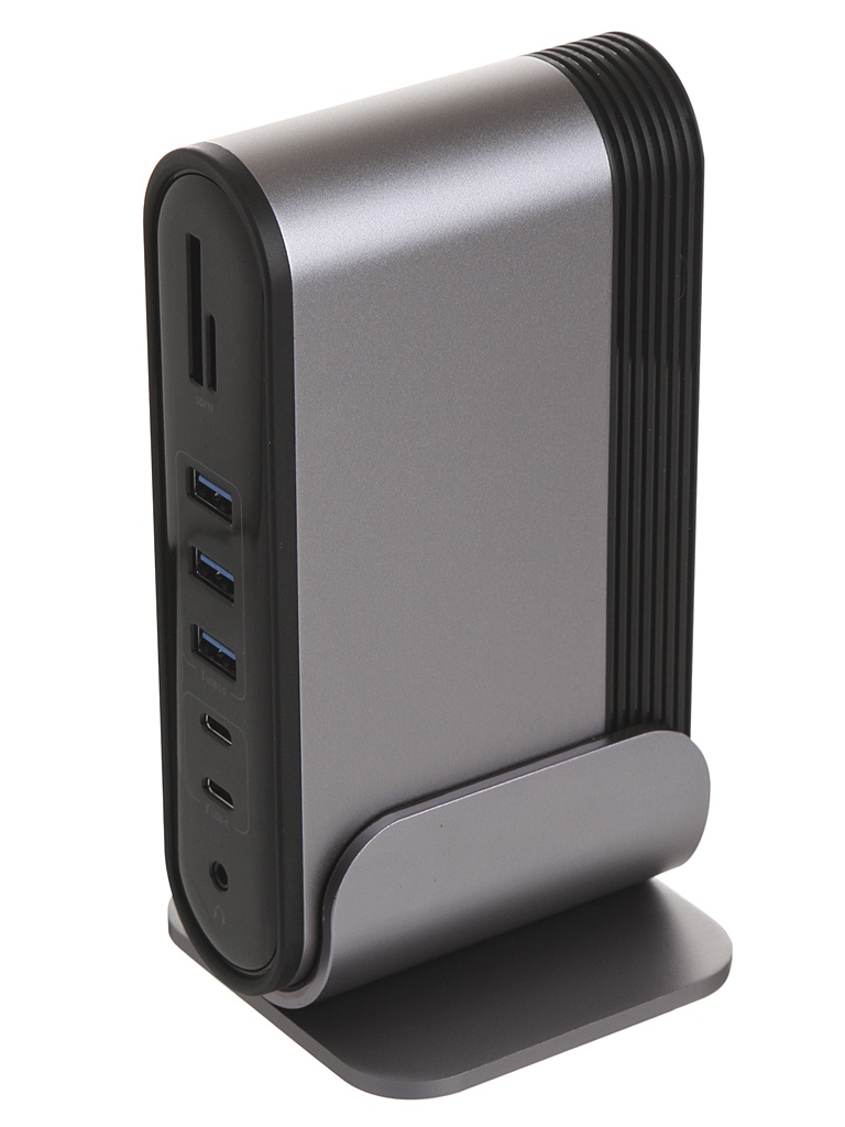 Хаб USB Baseus Working Station Multifunctional Type-C HUB Adapter CN+UK+EU Dark Grey CAHUB-BG0G
