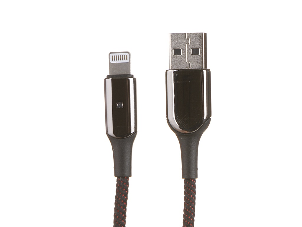 Аксессуар Baseus X-type Light USB - Lightning 2.4A 1m Black CALXD-B01