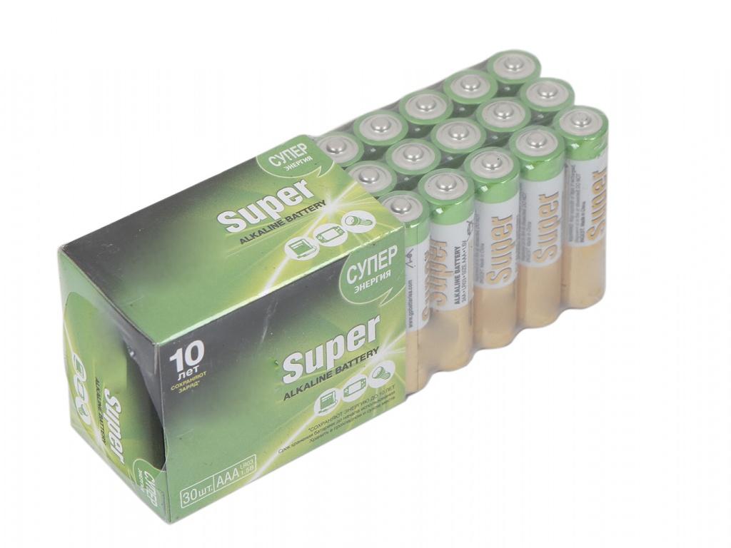 Батарейка AAA - GP Super Alkaline 24A-2CRVS30 (30 штук)