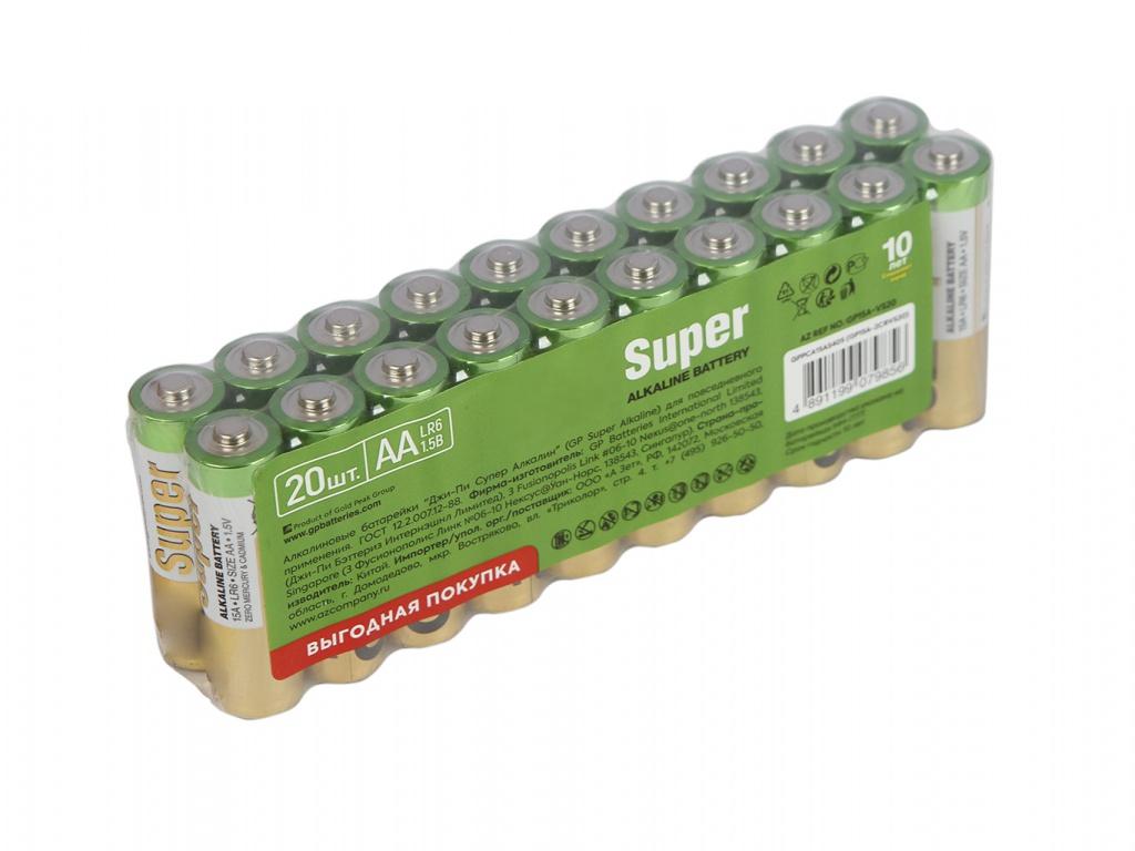 Батарейка AA - GP Super Alkaline 15A-2CRVS20 (20 штук)