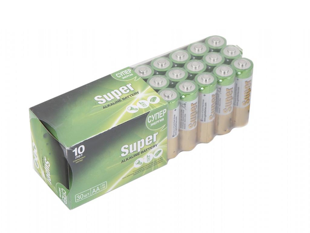 Батарейка AA - GP Super Alkaline 15A-2CRVS30 (30 штук)