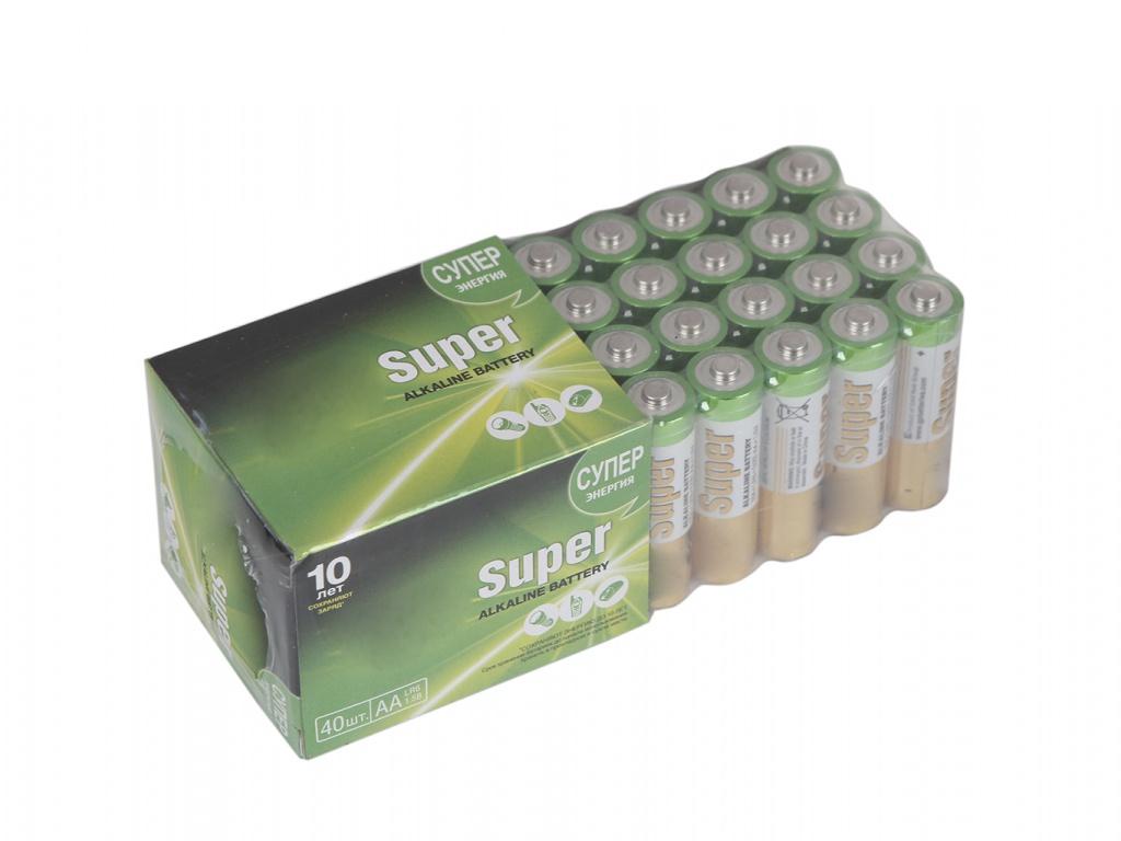 Батарейка AA - GP Super Alkaline 15A-2CRVS40 (40 штук)