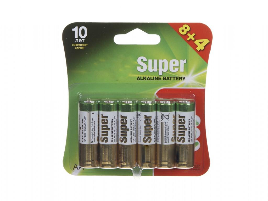Батарейка AA - GP Super Alkaline 15A8/4-2CR12 (12 штук)