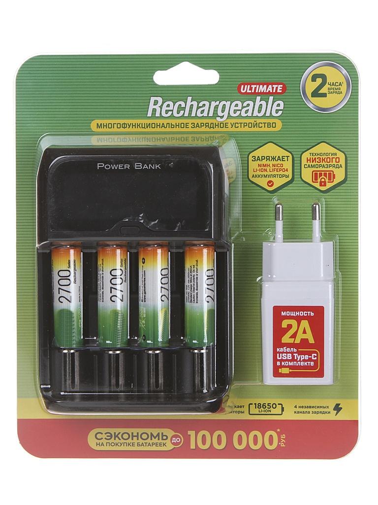 Зарядное устройство GP + 4 ак. AA 2700 mAh 270AAHC/MHSPBA-2CR4 gp batteries 24a 2cr4