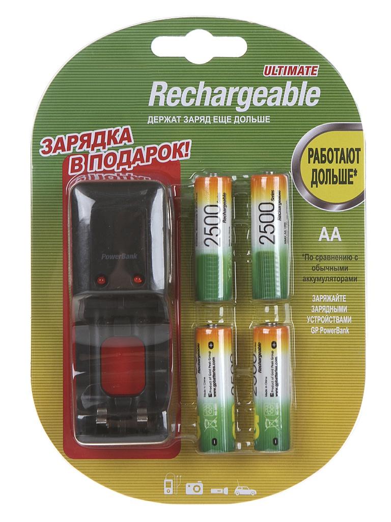 цена на Зарядное устройство GP PB330GSC + 4 ак. AA 2500mAh PB330GSC250BB7-2CR4
