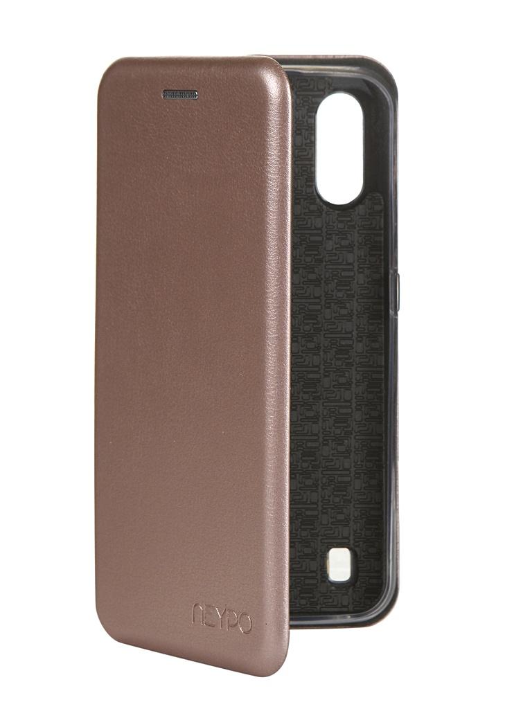 Чехол Neypo для Samsung Galaxy A01 2020 Premium Rose Gold NSB16350