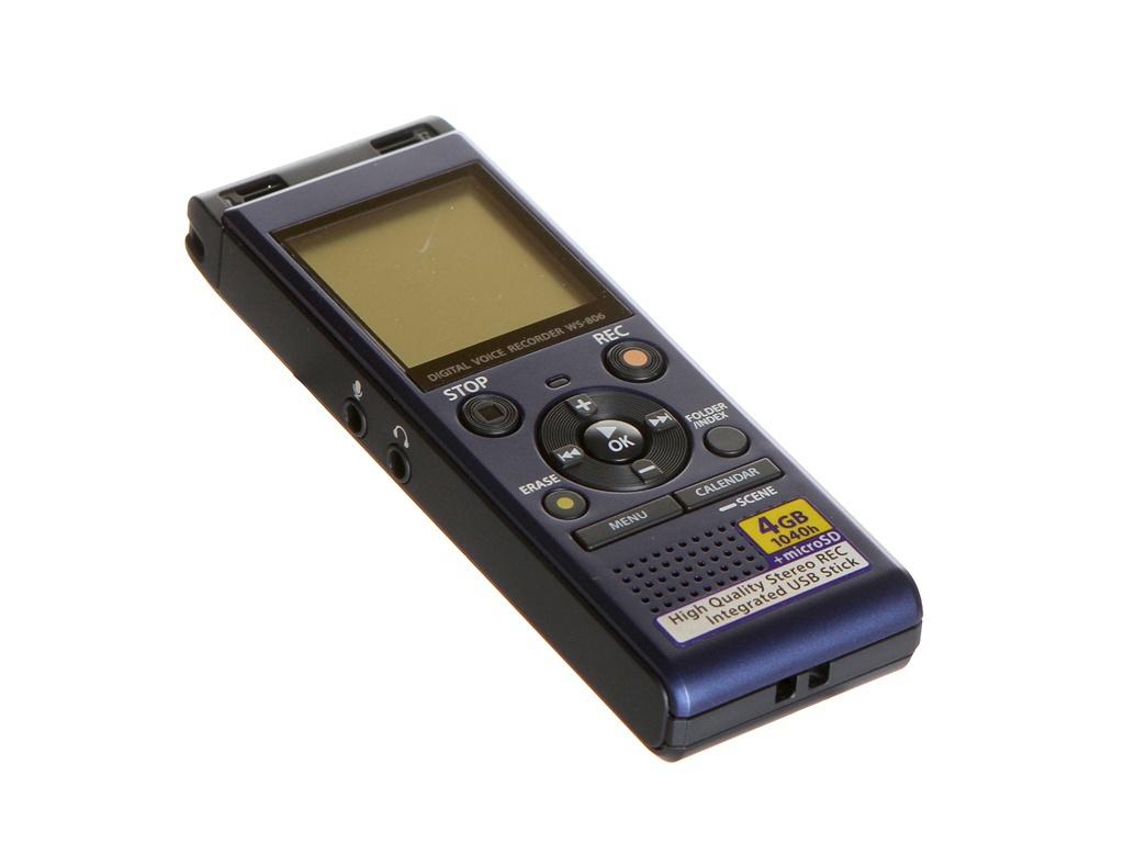 Диктофон Olympus WS-806 Blue Выгодный набор + серт. 200Р!!!