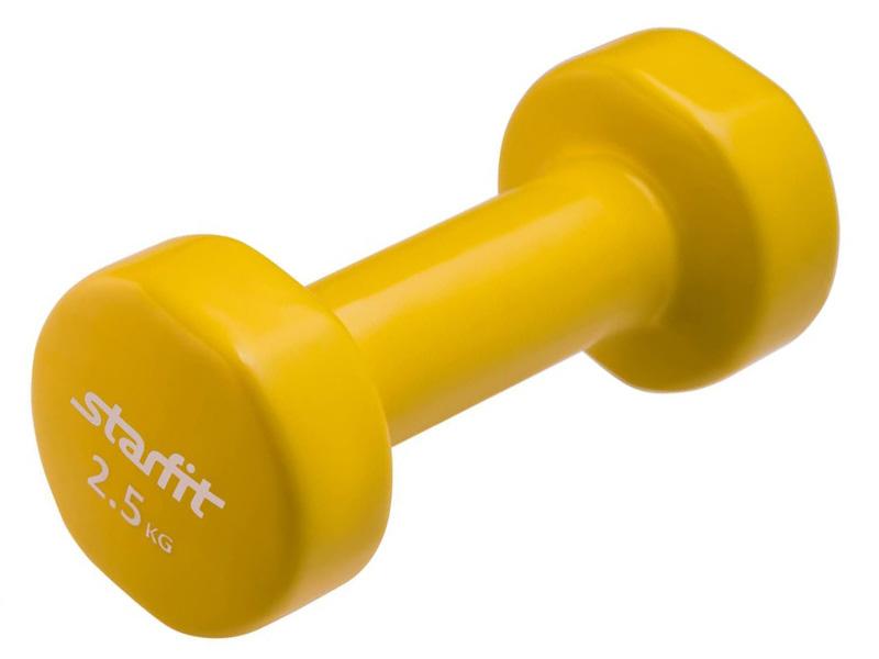 Гантель Starfit DB-101 2.5kg Yellow УТ-00007045