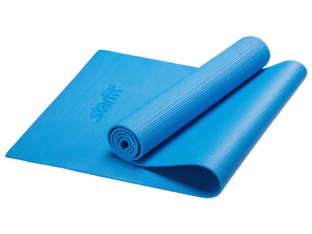 Коврик для йоги Starfit FM-101 PVC 173x61x1.0cm Blue УТ-00008839