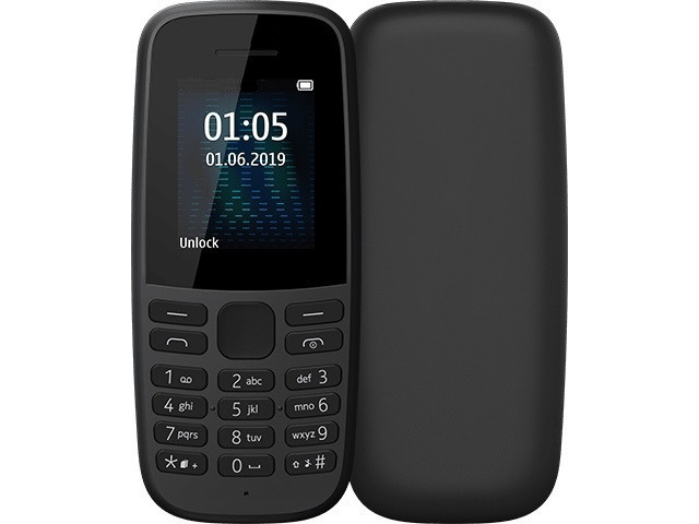 Сотовый телефон Nokia 105 (TA-1203) Black Выгодный набор + серт. 200Р!!!