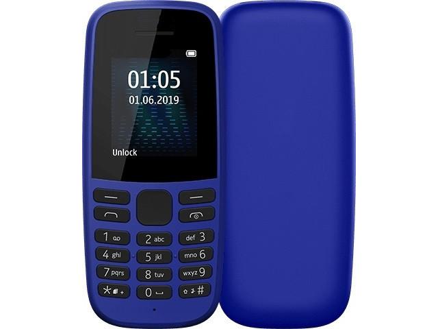 Сотовый телефон Nokia 105 (TA-1203) Blue Выгодный набор + серт. 200Р!!!