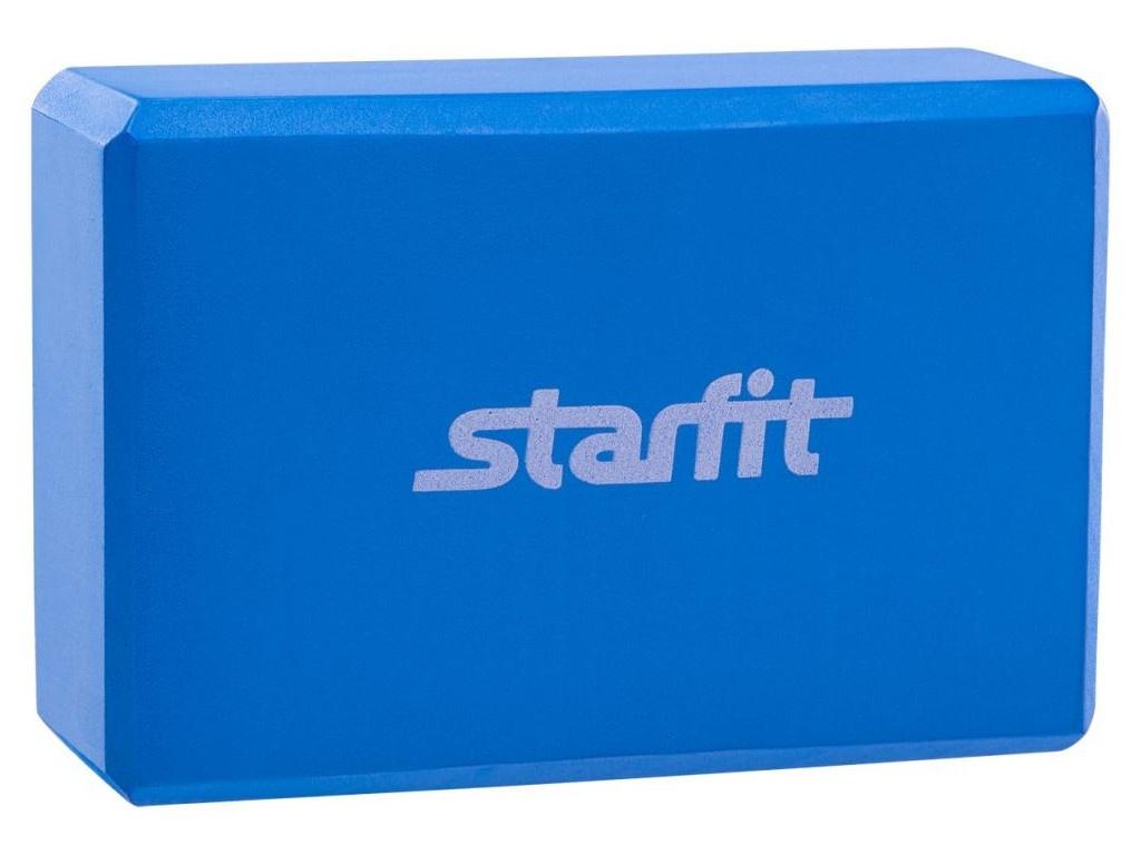 Блок для йоги Starfit FA-101 Blue УТ-00007216 упоры для отжимания starfit ba 304 black orange ут 00016658
